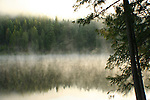 Dawn at Robinson Lake, Forest Service Campground in Boundary County Idaho.