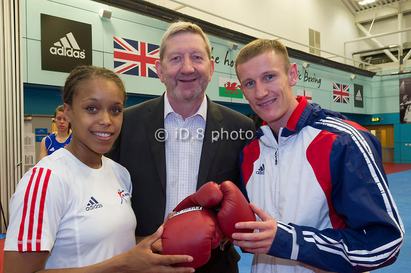 L-R  Natasha Johns, Len McCluskey,Tom Stalker Captain