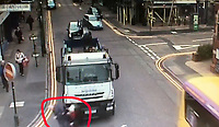 CCTV - Xmas shopping couples miracle escape(With video)