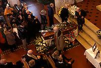 Funerali dell'attrice svedese Anita Ekberg, alla chiesa evangelica luterana a Roma, 14 gennaio 2015.<br /> Funeral service of Swedish actress Anita Ekberg at the Christuskirche Lutheran Evangelical church in Rome, 14 January 2015.<br /> UPDATE IMAGES PRESS/Riccardo De Luca