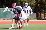 Manhattan Beach, CA 02-11-17 - Max Kollmorgen (Santa Clara #10) in action during the MCLA non-conference game between LMU (SLC) and Santa Clara (WCLL).  Santa Clara defeated LMU 18-3.