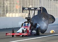 Feb 8, 2020; Pomona, CA, USA; NHRA top fuel driver Doug Kalitta during qualifying for the Winternationals at Auto Club Raceway at Pomona. Mandatory Credit: Mark J. Rebilas-USA TODAY Sports