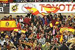 04 June 2008: Spain fans, pregame. The Spain Men's National Team defeated the United States Men's National Team 1-0 at Estadio Municipal El Sardinero in Santander, Spain in an international friendly soccer match.