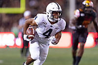 College Park, MD - SEPT 27, 2019: Penn State Nittany Lions running back Journey Brown (4) runs the football during game between Maryland and Penn State at Capital One Field at Maryland Stadium in College Park, MD. The Nittany Lions beat the Terps 50-0. (Photo by Phil Peters/Media Images International)