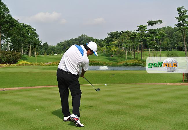 Felipe Aguilar (CHI) on the 6th on Day 2 of the Maybank Malaysian Open 2012 at Kuala Lumpur Golf and Country Club, Kuala Lumpur, Malaysia...(Photo Jenny Matthews/www.golffile.ie)