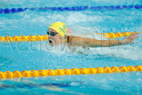 6th April 2018, Optus Aquatic Centre, Gold Coast, Australia; Commonwealth Games day 2; Madeline Groves of Australia competes in the Womens 100m Butterfly Final
