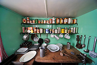 So neat,  circa 1950s - The kitchen work area of the Port Lockroy research station.
