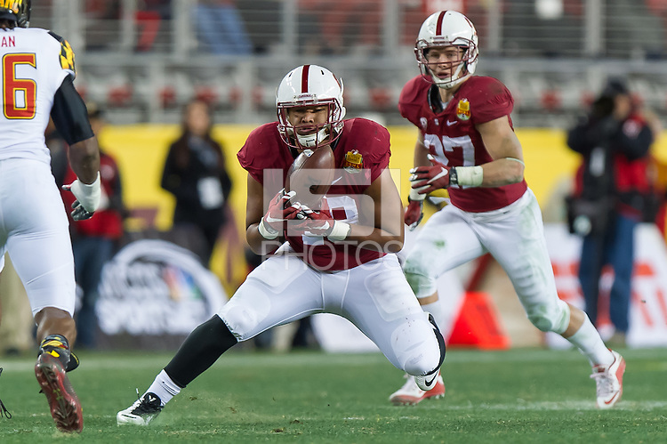 SANTA CLARA, CA - DECEMBER 30, 2014: Kevin Palma during Stanford's game against Maryland in the 2014 Foster Farms Bowl. The Cardinal defeated the Terrapins 45-21.