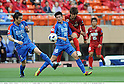 (R-L) Yuya Osako (Antlers), Jiang Jiajun, Dai Lin (Shanghai), MAY 3rd, 2011 - Football : AFC Champions League Group H match between Kashima Antlers 2-0 Shanghai Shenhua at National Stadium in Tokyo, Japan. (Photo by Takamoto Tokuhara/AFLO).
