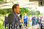 At the unveiling of the Rose monument in Tralee Town Park on Thursday were Minister Loe Varadkar