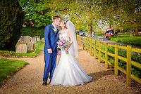 Church wedding at St. Peters in Benington, Hertfordshire