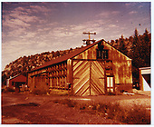 View of RGS freight house behind Dolores depot.<br /> RGS  Dolores, CO