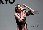 September 9, 2017, Tokyo, Japan - Japanese singer Mika Nakashima performs before hundreds of shoppers at the opening ceremony for the Vogue Fashion's Night Out 2017 in Tokyo on Saturday, September 9, 2017. Some 630 shops participated one-night fashion shopping event in Tokyo. (Photo by Yoshio Tsunoda/AFLO) LWX -ytd-