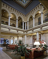 Both exterior and interior of Little Rock's Capital Hotel have been designated National Historic Landmark status. Do not use without written permission from hotel management. Little Rock, Arkansas.