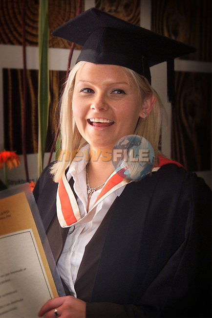 Rachel Byrne from Donore who received a degree in Business Studies at the Dundalk Institute of Technology Conferring..Picture: Paul Mohan/Newsfile