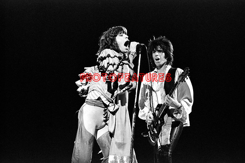 Rolling Stones 1976 Mick Jagger and Keith Richards..