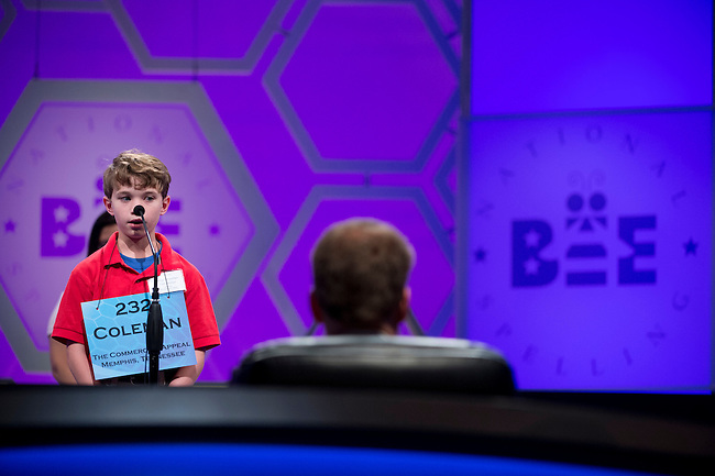 Speller 232 Coleman Swartzfager competes in the preliminary rounds of the Scripps National Spelling Bee at the Gaylord National Resort and Convention Center in National Habor, Md., on Wednesday,  May 30, 2012. Photo by Bill Clark