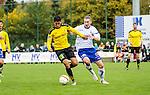 2015-10-25 / Voetbal / seizoen 2015-2016 / KSK Heist - K Lierse SK / Sabir Bougrine (l. K Lierse SK) met Pieter Beckers Foto: Mpics.be