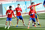 Spain's Isco Alarcon, Ander Herrera, Alvaro Morata and Iago Aspas during training session. March 21,2017.(ALTERPHOTOS/Acero)