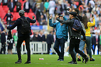 Millwall fans invade the pitch at the end of the match and mark the occasion with a selfie during Bradford City vs Millwall, Sky Bet EFL League 1 Play-Off Final at Wembley Stadium on 20th May 2017