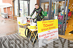 Tommy Sheehy doing an eight hour spinning session in aid of Enable Ireland at Dunnes NCR Tralee on Saturday