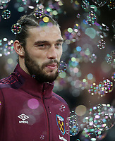 West Ham United's Andy Carroll<br /> <br /> Photographer Rob Newell/CameraSport<br /> <br /> The Premier League - West Ham United v West Bromwich Albion - Tuesday 2nd January 2018 - London Stadium - London<br /> <br /> World Copyright &copy; 2018 CameraSport. All rights reserved. 43 Linden Ave. Countesthorpe. Leicester. England. LE8 5PG - Tel: +44 (0) 116 277 4147 - admin@camerasport.com - www.camerasport.com