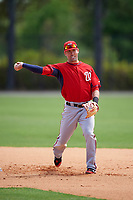 Washington Nationals Jason Martinson (11) during practice before a minor league Spring Training game against the Detroit Tigers on March 21, 2016 at Tigertown in Lakeland, Florida.  (Mike Janes/Four Seam Images)