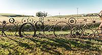 Iron Wheel Fence in Uniontown Washington