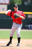 May 13, 2009:  Shortstop Brian Bixler of the Indianapolis Indians, International League Class-AAA affiliate of the Pittsburgh Pirates, in the field during a game at Frontier Field in Rochester, FL.  Photo by:  Mike Janes/Four Seam Images