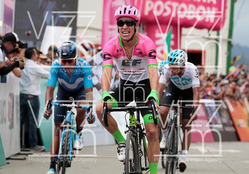 MANIZALES-COLOMBIA. 10-02-2018. Rigoberto Uran (segundo desde Izq), Colombia, (EF EDUCATION FIRST-DRAPAC) gana la 5ª etapa de la Colombia Oro y Paz UCI 2.1 que se corrió entre la ciudad de Pereira y la población de Salento con una distancia de 167 kms. / Rigoberto Uran (segundo desde Izq), Colombia, (EF EDUCATION FIRST-DRAPAC) wins the 5ª stage of the Colombia Oro y Paz UCI 2.1, that was held between Pareira city and Salento village over 167 kms. Photo: VizzorImage/Santiago Osorio/Cont
