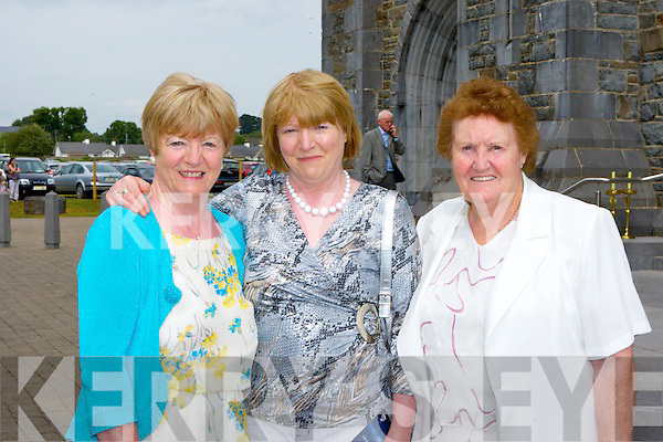 Noreen Gayden Beaufort, Eileen Tucker Killarney and Abbie O'Sullivan Dromid at the Ordination of the Bishop of Kerry in St Mary's Cathedral on Sunday