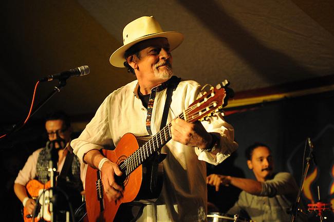 El Sueno Existe Festival<br /> Machynlleth<br /> Wales<br /> Los Musicos, Latin and Salsa Band.