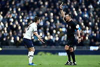 1st March 2020; Tottenham Hotspur Stadium, London, England; English Premier League Football, Tottenham Hotspur versus Wolverhampton Wanderers; Ben Davies of Tottenham Hotspur is shown a yellow card