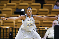 March 3, 2011: Central Florida forward/center Erika Jones (55) defends the paint during second half womens Conference USA NCAA basketball game action between the Memphis Lady Tigers and the Central Florida Knights. Central Florida defeated Memphis 70-52 at the UCF Arena Orlando, Fl.