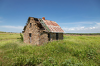 Abandoned building in the Flint Hills of Kansas.