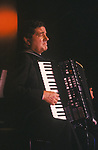 Gervasio Marcosignori the celebrated Italian accordion virtuoso  at the annual Perth Accordion Festival. 1989. 1980s UK