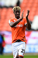 Blackpool's Armand Gnanduillet applauds the fans<br /> <br /> Photographer Richard Martin-Roberts/CameraSport<br /> <br /> The EFL Sky Bet League One - Blackpool v Southend United - Saturday 9th March 2019 - Bloomfield Road - Blackpool<br /> <br /> World Copyright © 2019 CameraSport. All rights reserved. 43 Linden Ave. Countesthorpe. Leicester. England. LE8 5PG - Tel: +44 (0) 116 277 4147 - admin@camerasport.com - www.camerasport.com