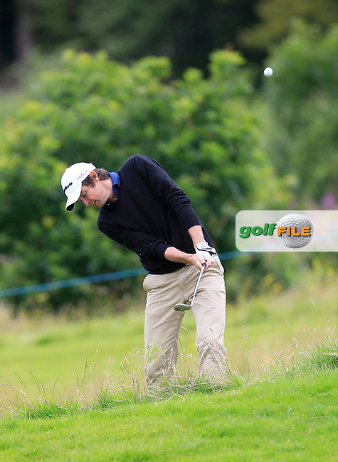Niall Turner (IRL) in the rough on the 2nd during Round 3 of the Northern Ireland Open in Association with Sphere Global &amp; Ulster Bank at Galgorm Castle Golf Club on Saturday 8th August 2015.<br /> Picture:  Thos Caffrey / www.golffile.ie