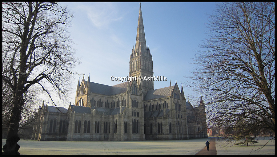 BNPS.co.uk (01202 558833)<br /> Pic: AshMills/BNPS<br /> <br /> ***Please Use Full Byline***<br /> <br /> Salisbury cathedral.<br /> <br /> One of Britain's best known cathedrals is free from scaffolding for the first time in nearly 30 years following a major restoration project. <br /> <br /> Work began on historic Salisbury Cathedral in 1986 amid concerns that the 795-year-old medieval building was falling into disrepair. <br /> <br /> Now, 29 years after the first work began, the cathedral in Wiltshire is free from as the extensive renovation reaches its final stage.<br /> <br /> The removal of the scaffolding also corresponds with the 800th anniversary of the signing of the Magna Carta, the charter King John was forced to comply with in 1215 granting rights to the public and to the church.