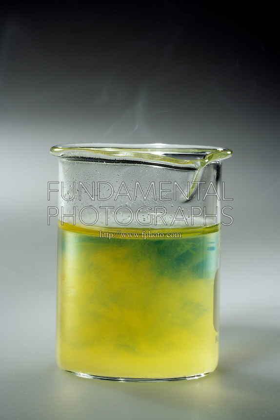 PHOSPHORUS PENTOXIDE ACIDIFIES WATER<br /> (5 of 5 - Variations Available)<br /> Bromothymol Blue Indicator w/ P4O10 (s) and H2O..P4O10(s) has formed phosphoric acid (indicator shifted to yellow). P4O10(s) + 6 H2O(l) --&gt; 4 H3PO4(aq)
