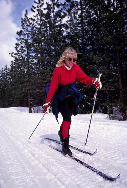Cross country skier near Truckee