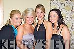Eilish Crowley, Cathy O'Connor, Ailish Canny and Sinead Daly at the  Gneeveguilla GAA club 50th anniversary banquet in the Malton Hotel Killarney on Saturday night..