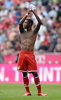 Fussball  1. Bundesliga  Saison 2013/2014  3. Spieltag FC Bayern Muenchen - 1. FC Nuernberg       24.08.2013 SCHLUSSJUBEL, David Alaba (FC Bayern Muenchen)
