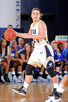 12 January 2012:  FIU guard Carmen Miloglav (24) handles the ball in the second half as the Middle Tennessee State University Blue Raiders defeated the FIU Golden Panthers, 74-60, at the U.S. Century Bank Arena in Miami, Florida.
