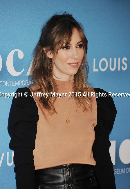 LOS ANGELES, CA - MAY 30: Writer/director Gia Coppola  arrives at the 2015 MOCA Gala presented by Louis Vuitton at The Geffen Contemporary at MOCA on May 30, 2015 in Los Angeles, California.