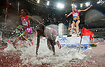 SHANGHAI, CHINA - MAY 19:  Athletes compete in the Women 3000m Steeplechase during the Samsung Diamond League on May 19, 2012 at the Shanghai Stadium in Shanghai, China.  Photo by Victor Fraile / The Power of Sport Images