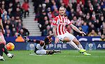 Marko Arnautovic of Stoke City is challenged by Ashley Young of Manchester United<br /> - Barclays Premier League - Stoke City vs Manchester United - Britannia Stadium - Stoke on Trent - England - 26th December 2015 - Pic Robin Parker/Sportimage