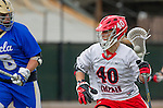 Orange, CA 03-05-17 - Hunter So (Chapman #40) in action during the UCLA - Champman Southern Lacrosse Conference MCLA Division 1 Men's Lacrosse game.