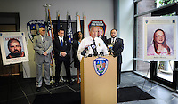 Bensalem Director of Public Safety Fred Harran addresses the media during a news conference announcing the arrest of George Shaw and Robert Sanders in the 1984 murder of Barbara Rowan at Bensalem Police Headquarters Friday October 2, 2015 in Bensalem, Pennsylvania.  (Photo By William Thomas Cain)