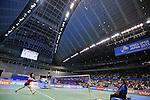 (L to R) Akane Yamaguchi, Shizuka Uchida (JPN), SEPTEMBER 22, 2013 - Badminton : Yonex Open Japan 2013 Women's Singles final at Tokyo Metropolitan Gymnasium, Tokyo, Japan. (Photo by Yusuke Nakanishi/AFLO SPORT) [1090]